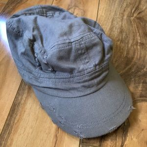 Gray Distressed Hat